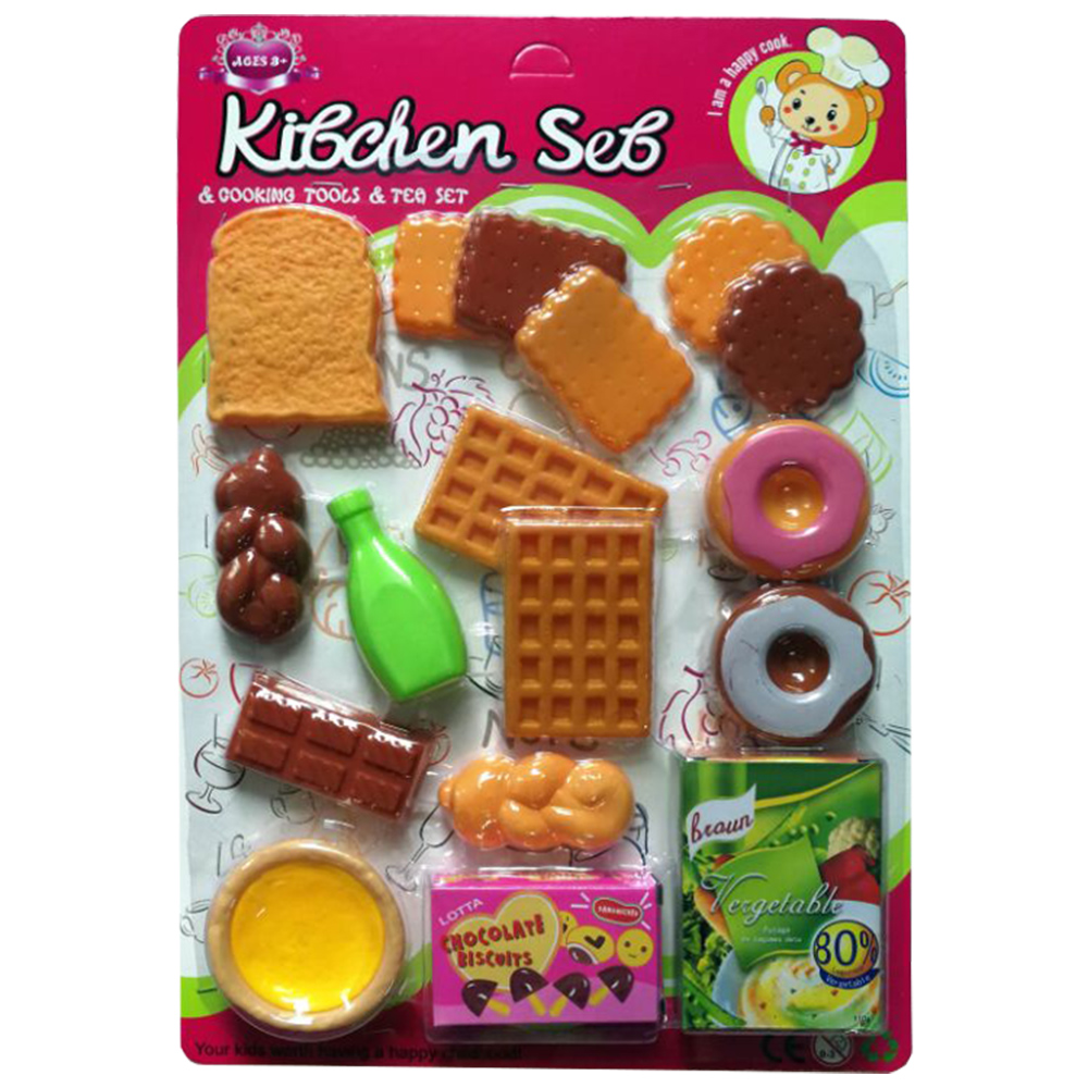 Role Play Kitchen Food Toy Play Set