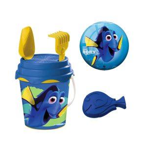 BUCKET SET - Beach Bucket Set with Ball - Disney Finding Dory - (14cm Ball - 17cm Dia Bucket)