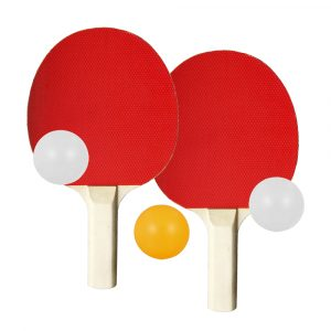 Table Tennis Racket and Three Balls