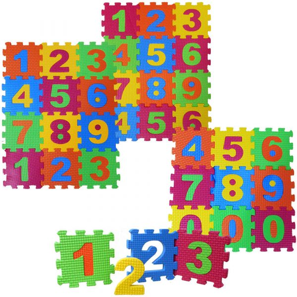 Small Foam Number Puzzle