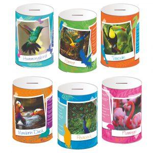 Exotic Birds Money Tin 145 x 110mm