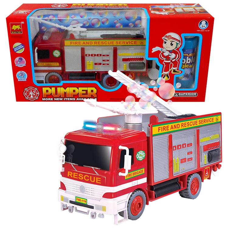 """Fire Truck Bubble Blower Bump """"N"""" Go"""